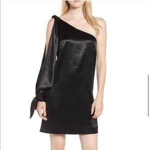 Rebecca Minkoff one shoulder satin mini dress
